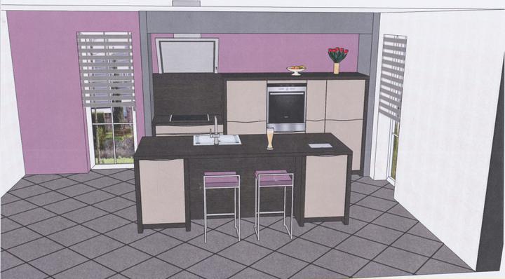 Moje představa o kuchyni - takhle bude vypadat naše kuchyň....už je objednaná:-)