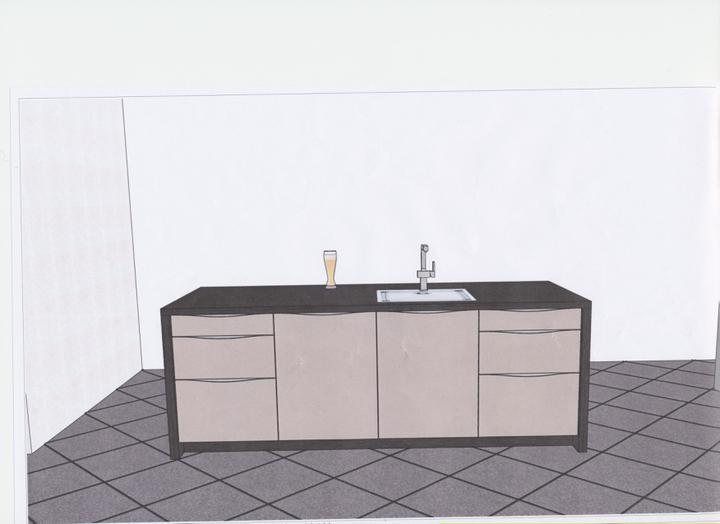 Moje představa o kuchyni - ostrůvek
