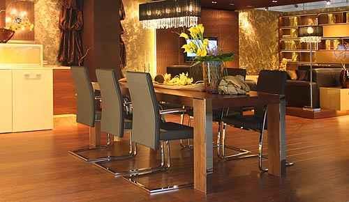 Moje představa o kuchyni - Krásný stůl, židle i světlo:-)
