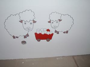 Ovečky i vozíček je třeba dovybarvit