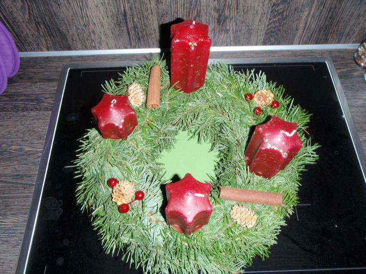 Vánoční:-) - adventní věnec do obýváku