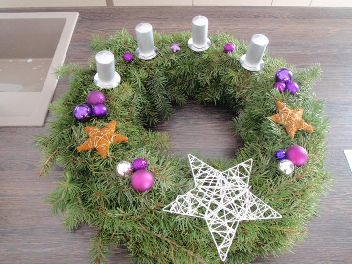 Vánoční:-) - věnec na ostrůvek v kuchyni