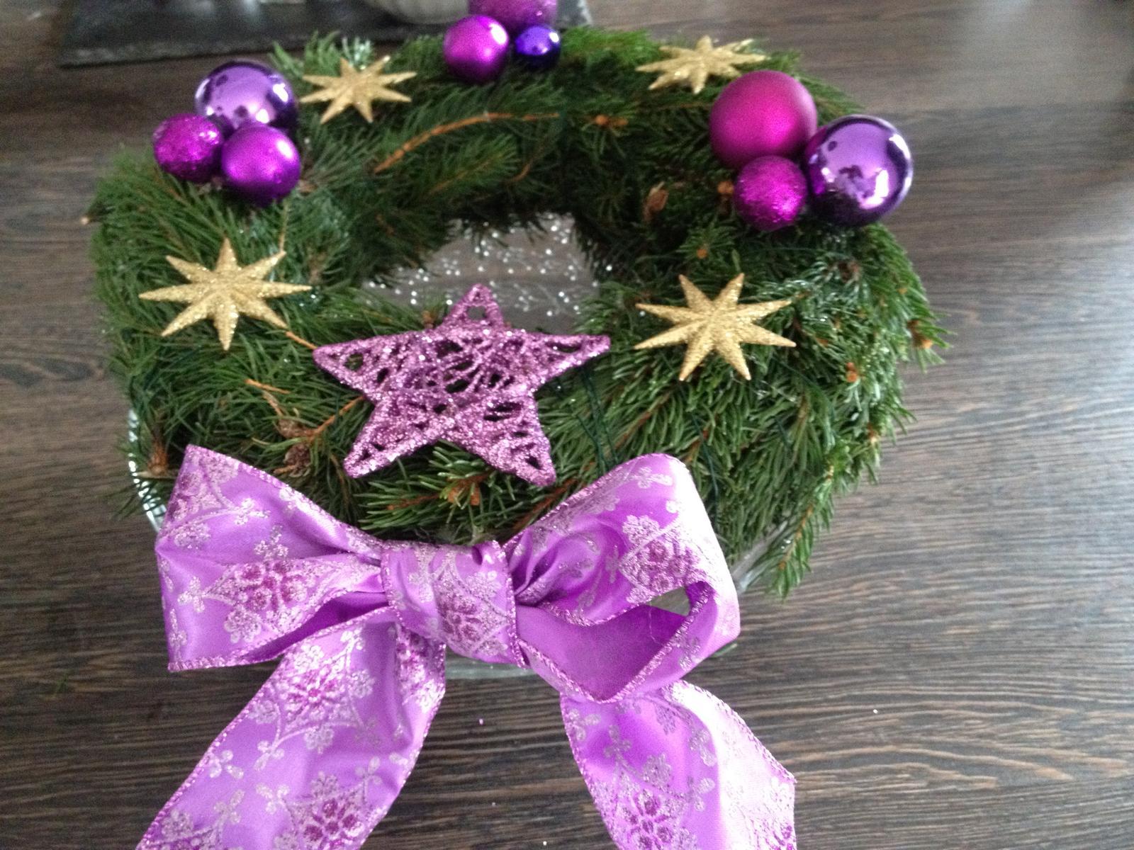 Vánoční:-) - věnec bez svíček 2013