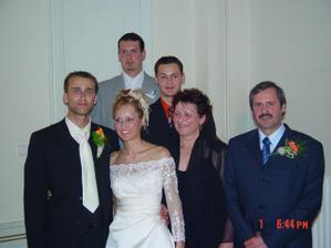 S mojimi rodičmi a bratmi