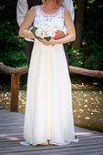 svadobné šaty na cca 160-165 cm, 36