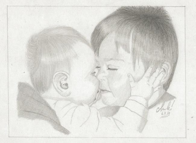 Kdo si hraje nezlobí :) - Kluci naší Marcelky :-) To je lásky!!