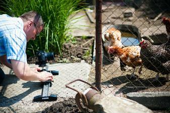 Kameraman si natočil aj naše sliepočky