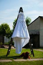 a otcov pes mi postrážil šaty