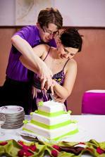 popolnočné krájanie torty :-)