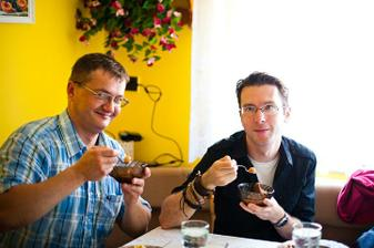 naši dvaja super chlapi Laco a Tomáš