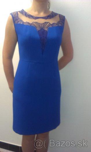 elegantne saty modre - Obrázok č. 1
