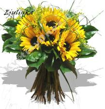 Jak bude kytice vypadat ještě přesně nevím..ale budou to slunečnice..to vím jistě :)