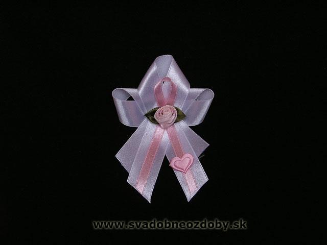 Andrejka a Peťko - Mašličky na svadobné pierka pre rodičov a svedkov - v krémovej farbe