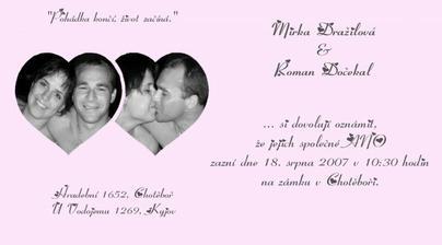 Originální oznámení (autor bráška Lukáš)