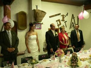 Taťkův proslov s přípitkem na novomanžele