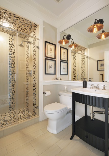 Oblázky v koupelně - Obrázek č. 36