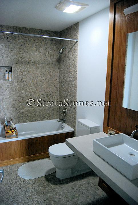 Oblázky v koupelně - Obrázek č. 40
