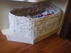 Košík z papiera- nepravidelný tvar