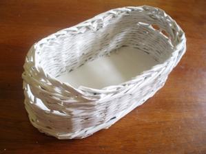 kosicek z papiera - biely