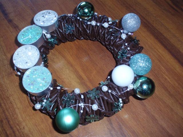 Vianočné pletenie z papiera - adventny vencek