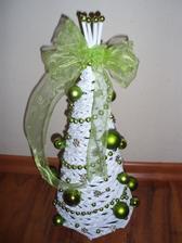 Stromcek - vyska 30 cm - bielo zelený