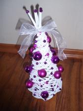 Stromcek - vyska 20 cm - bielo fialovo-ruzový