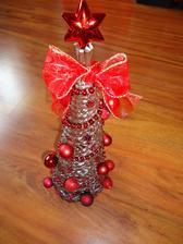 stromcek 35 cm - hnedo-červený