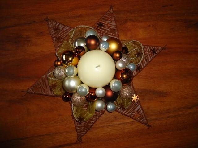 Vianočné pletenie z papiera - hviezda  - priemer 35 cm - uz hotova