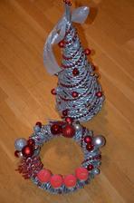 strieborno-červená vianočná súprava :)