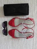 bodkované sandálky, 39