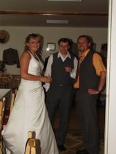 my s bratrem Petrem.Hodně nám pomohl se zařizováním svatby a zároveň byl mým svědkem.