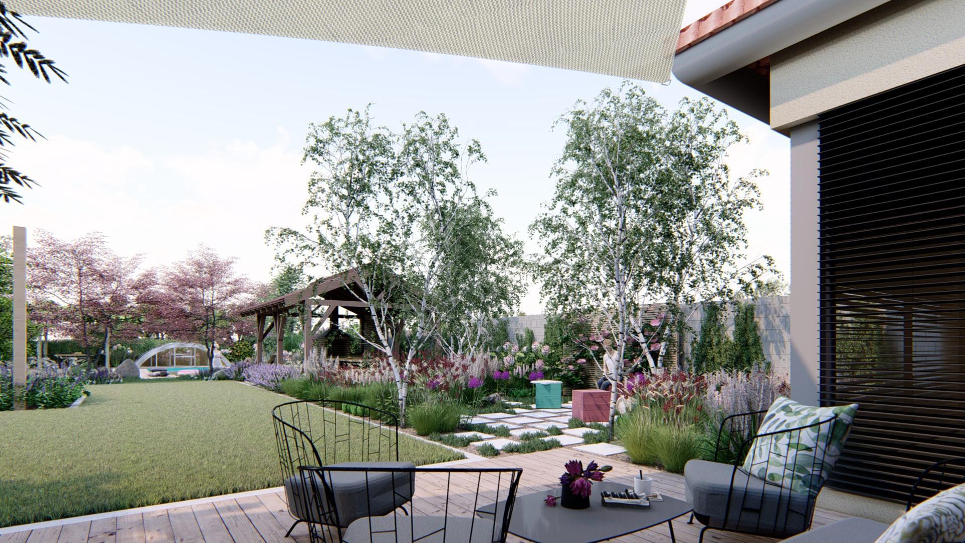 Záhrada s brezami - Obrázok č. 1