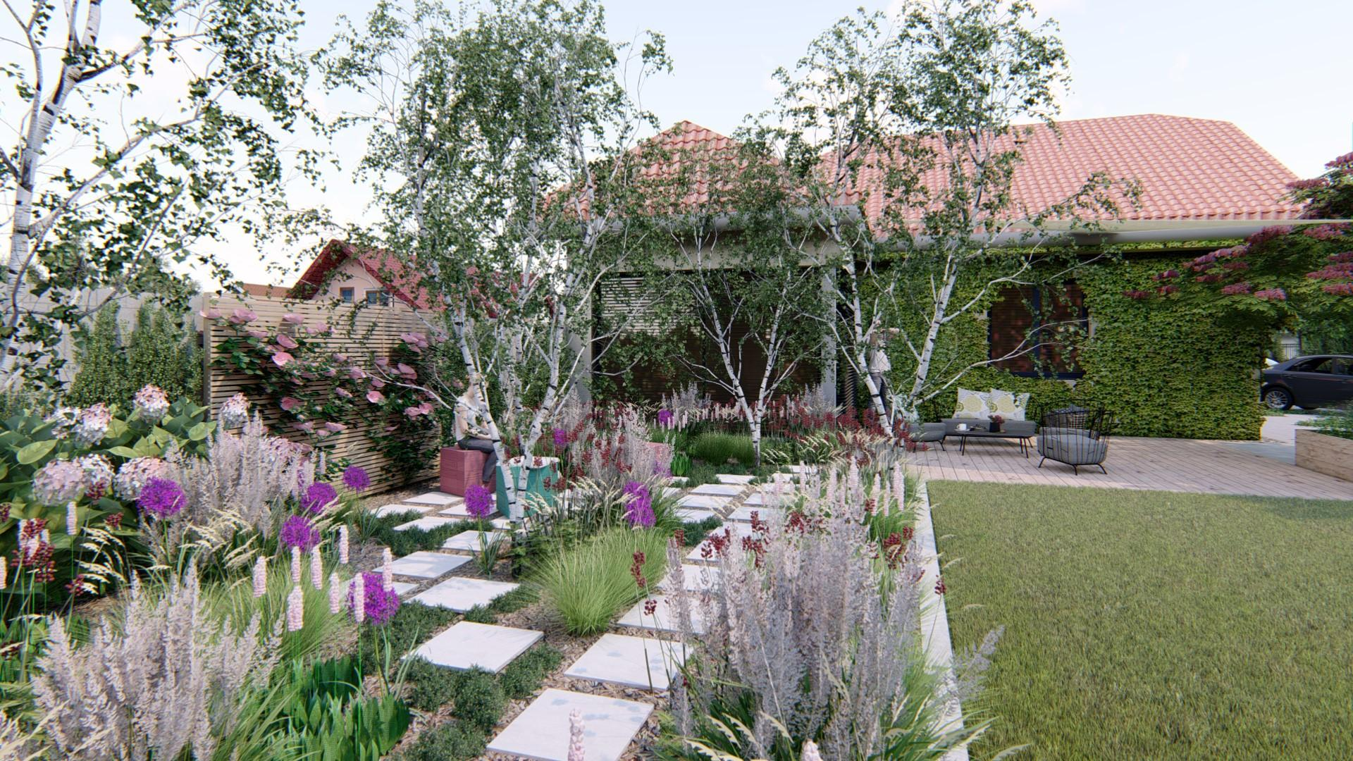 Záhrada s brezami - Obrázok č. 5