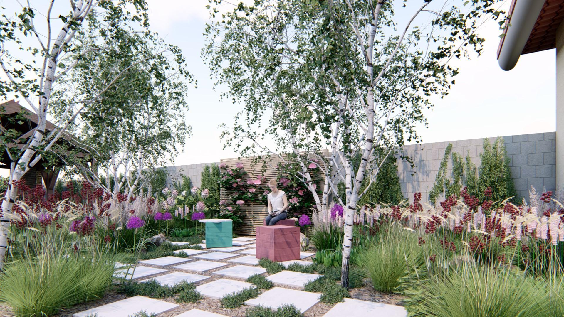 Záhrada s brezami - Obrázok č. 3