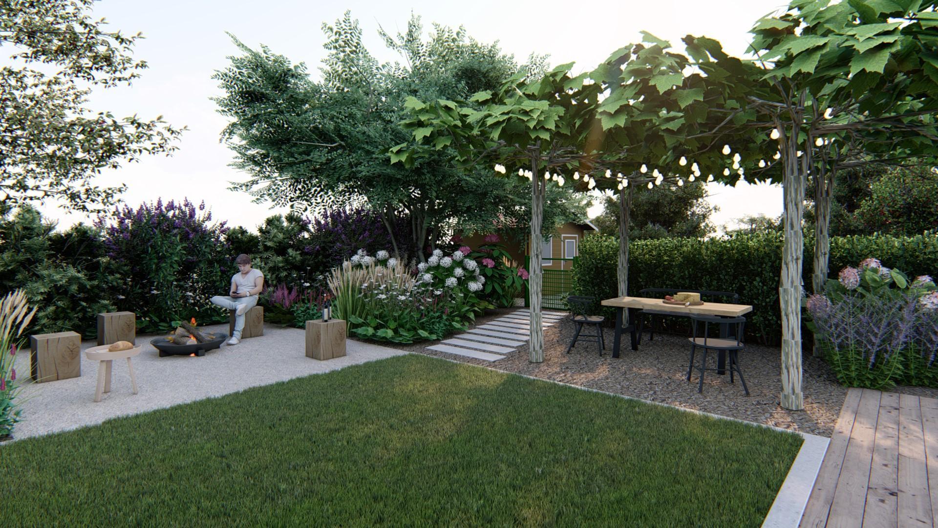 Záhrada s brezami - Obrázok č. 12