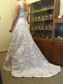 dlouhé svatební šaty vel.38-40, 38