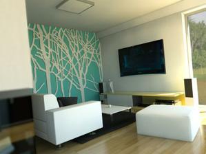 Takhle by mohla vypadat naše zeď v ložnici za postelí...