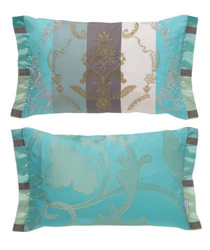 Tyrkysová ložnice - inspirace - Tyhle by byly na posteli krásné...