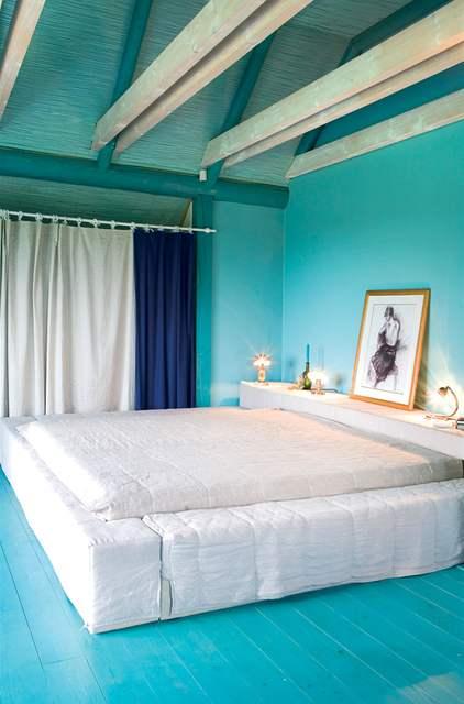 Tyrkysová ložnice - inspirace - Moc hezké...