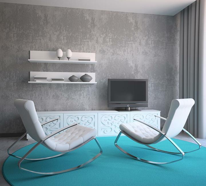 Tyrkysová ložnice - inspirace - Ta šedá k tyrkysové nemá chybu!