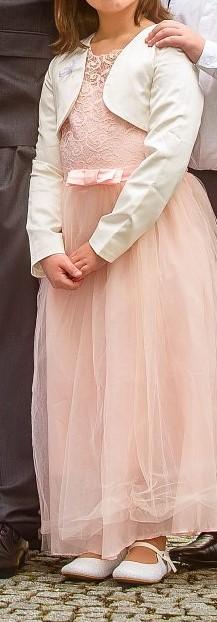 Dívčí šaty + bolerko, vel 134/140 - Obrázek č. 1