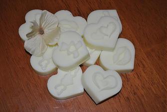 vanilkové svadobné mydielka pre svadobčanov
