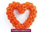 Srdce prázdné oranžové,