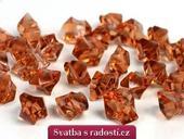 Krystalové kamínky karamelové,
