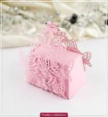 Motýlí krabička na výslužku s motýly růžová,