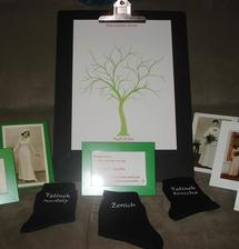 strom ještě jednou i s fotkami rodičů z jejich svatebního dne :o)) hezká vzpomínka