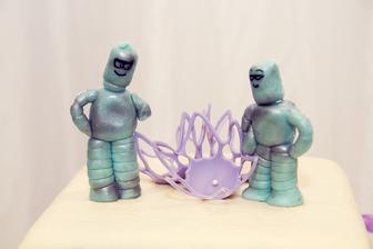 A naše figurky na dort ROBOTI :o)