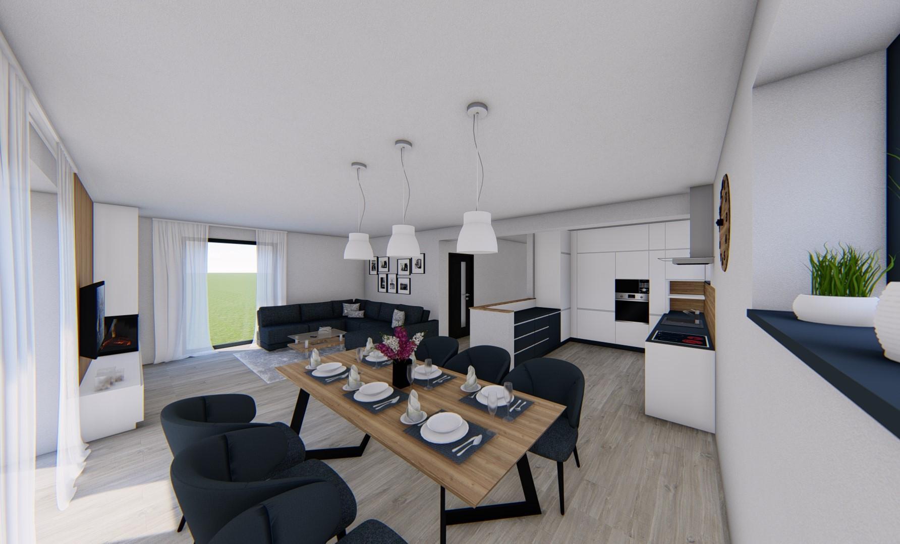 Náš domček ❤️🏡 - Interiérový návrh našej kuchyne, jedálne a obývačky.