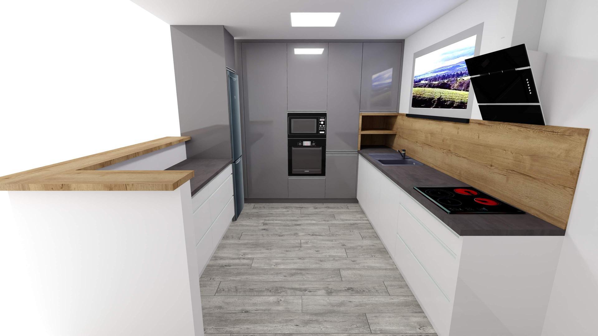 Vizualizácie kuchyne a kúpeľne - Návrh č.2 Ktorý sa vám páči viac? My sa prikláňame k tomuto.