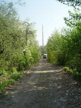 Pohled z ulice k domecku